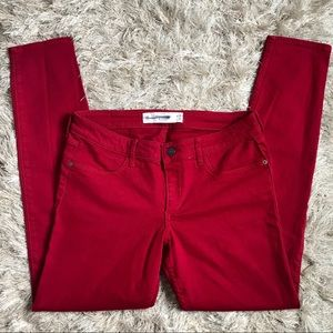 Abercrombie & Fitch Red Ankle Skinny Jeans